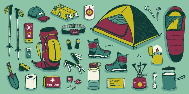 Mountaineering and camping equipment